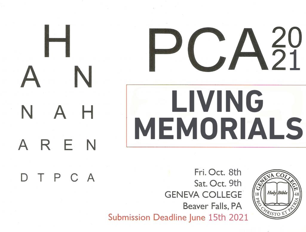 PCA 2021 Living Memorials